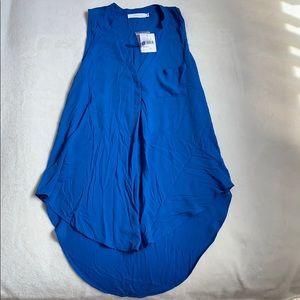 Electric Blue Sleeveless Lush Shirt